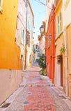 The narrow streets of Menton Royalty Free Stock Image