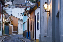 Narrow streets in Minas Gerais Royalty Free Stock Photography