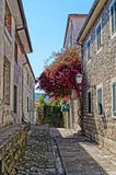 Narrow streets of Montenegro Royalty Free Stock Photography