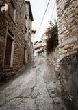Narrow streets of the mountain town Stock Photo