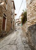 Narrow streets of the mountain town Royalty Free Stock Photography