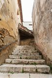 Narrow streets of the mountain town Royalty Free Stock Image