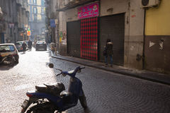Narrow streets of Naples, Italy. Royalty Free Stock Images