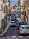 Narrow Streets Of Ponta Delgada Stock Image