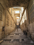 The narrow streets of the old city of Jerusalem Royalty Free Stock Photos