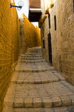 Narrow streets of Old Jaffa. Stock Photo