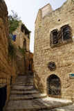 Narrow streets of old Jaffa. Israel Stock Image