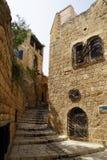Narrow streets of old Jaffa. Israel stock image
