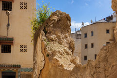Narrow streets in the old Medina Fes, Morocco royalty free stock photo