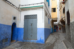 Narrow streets of old Medina. Tanger, Morocco Royalty Free Stock Image