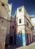 Narrow streets of old Medina of Tangier, Morocco Royalty Free Stock Photo