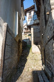 The narrow streets of the old Melnik in Bulgaria Royalty Free Stock Photography