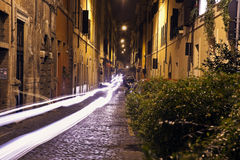 Narrow streets of old Rome Stock Photo