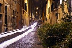 Narrow streets of old Rome Stock Photo
