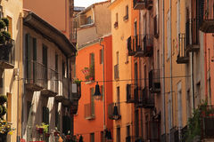 Narrow streets of old town Stock Photos