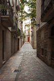 Narrow streets in the old town Stock Photos