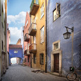Narrow streets of Old Town. Royalty Free Stock Images