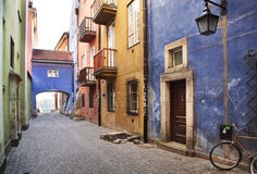 Narrow streets of Old Town. Royalty Free Stock Photos
