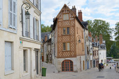 Narrow streets of Orleans, France Stock Photo