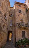 Narrow streets of Pienza, Tuscany Royalty Free Stock Photos
