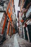 Narrow streets of Porto royalty free stock photo