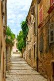 Narrow streets in Pula Royalty Free Stock Photos