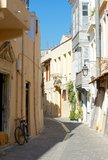 The narrow streets of Rethymno Stock Photography