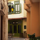 Narrow streets of Rethymno Stock Images