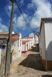 Narrow streets Santiago do Cacem. Narrow streets in the city of Santiago do Cacem, Portugal Royalty Free Stock Photos