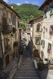 Narrow streets in Scanno Stock Images