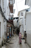 Narrow streets of Stone Town - main city of Zanzibar, old colonial province Stock Image