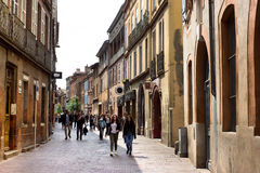 Narrow streets of Toulouse Stock Image