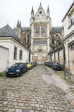 In the narrow streets of Tours Royalty Free Stock Photos