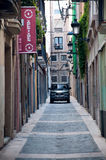 Narrow streets of Reus, Spain Royalty Free Stock Image