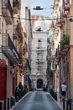 Narrow streets of Reus, Spain Royalty Free Stock Photo