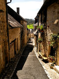 Narrow streets of Turenne Stock Photography