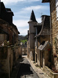 Narrow streets of Turenne Stock Photos