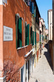 Narrow streets of Venice Stock Photos