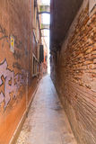 Narrow Streets in Venice Stock Images