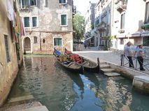 Narrow streets of Venice. Looking for little romance on gondola? Venice is the best place to get the taste of network of blue lagoons and canals stock image