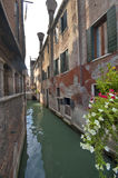 The Narrow streets of Venice. The water streets of Venice Stock Photography