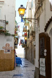 Narrow streets of Vieste on Puglia, Italy. Stock Photography