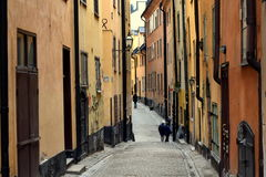 Narrow streets. View of the historic centre of the old town royalty free stock images
