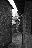 Narrow streets in a village at Vall de Boí Stock Photo