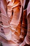 Narrow striped slot canyon walls. Royalty Free Stock Photography