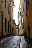 Narrow Swedish street Royalty Free Stock Images