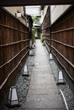 A narrow and thin path in Japan Royalty Free Stock Photos
