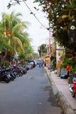 Narrow tourist area Ubud street Stock Photo
