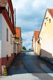 Narrow town road Stock Image