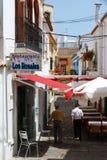 Narrow town street, Estepona. Royalty Free Stock Image